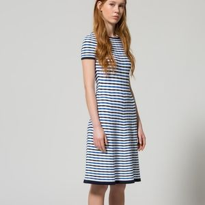 NWT Hugo Boss Striped A-Line Dress Sawnia M Patter